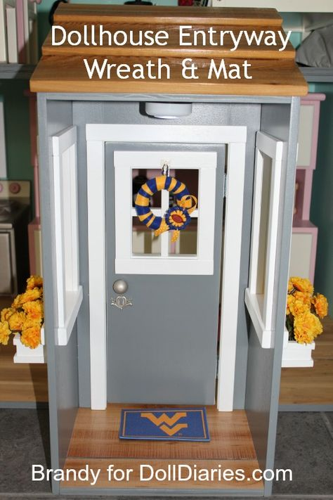 Dollhouse Entryway: Wreath and Mat — Doll Diaries