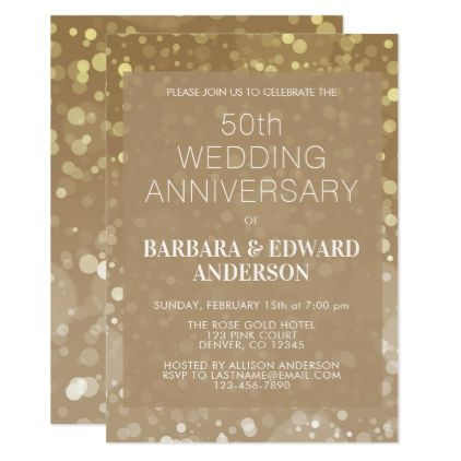 Gold Sparkle Glitter 50th Wedding Anniversary Card Glitter Gifts Personalize Gift Ideas Gold Bridal Party 50th Wedding Anniversary Wedding Anniversary Cards