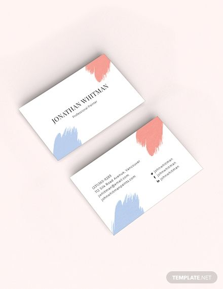 Modern Painter Business Card Template Word Doc Psd Apple Mac Pages Illustrator Publisher Painter Business Card Business Card Template Word Business Card Template