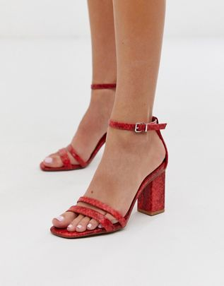 asos red sparkly sandals   Sparkly
