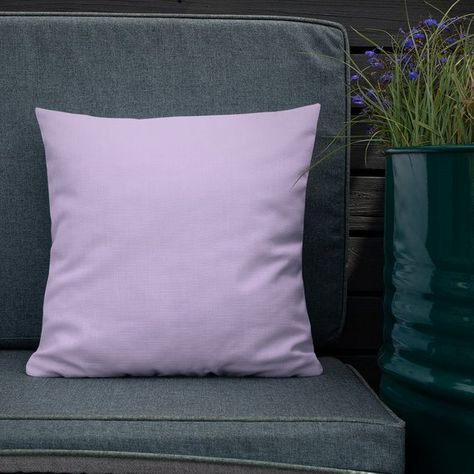 Lilac And Deep Purple Reversible Throw Pillow Cover And Insert