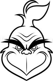 Image Result For Grinch Face Template Grinch Crafts Christmas Drawing Christmas Drawings For Kids