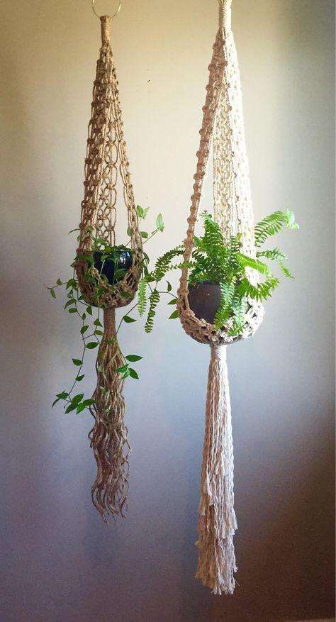 STELLA Macramé Pattern INTERMEDIATE//Plant Hangerpdf DIY | Etsy