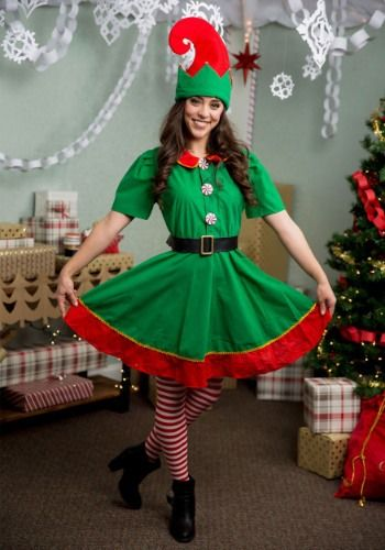 Holiday Elf Costume For Plus Size Elf Holiday Size Elf Fancy Dress Elf Costume Girl Elf Costume