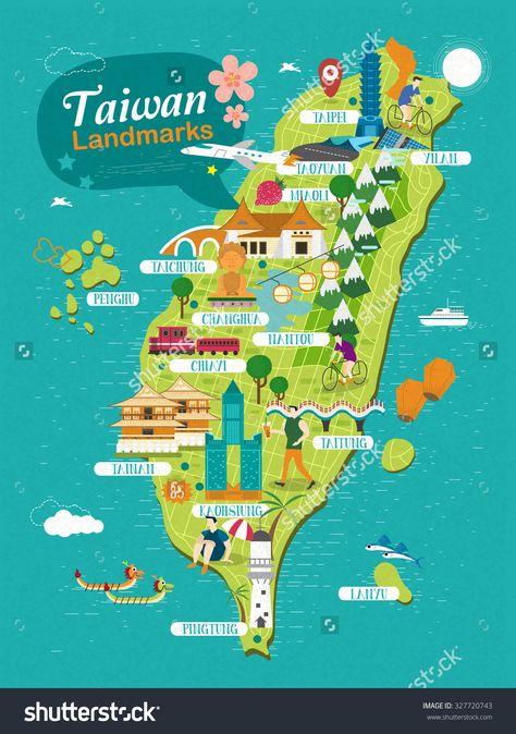 TAIWAN MAP Wander Pinterest Taiwan, Taipei and Taiwan travel - new taiwan world map images