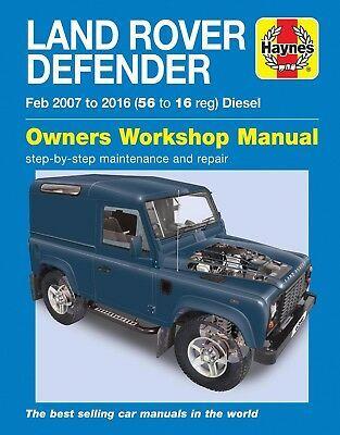 Advertisement Ebay Haynes Atelier Manuel 6398 Land Rover Defender 90 110 130 Diesel 2007 2016 Neuf Land Rover Defender Land Rover Defender Td5