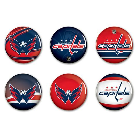 WinCraft Washington Capitals 6-Pack Button