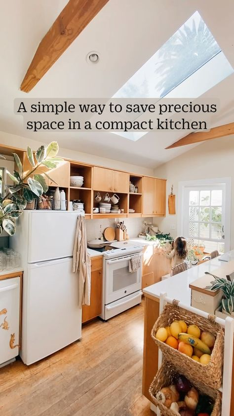 A simple way to save precious space in a compact kitchen