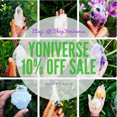 ✨@__yoniverse__  ARE DOING A NEW YEAR, LONG WEEKEND SALE!! ✨ AS A THANK YOU TO ALL OUR WONDERFUL CUSTOMERS!! CHECK OUT OUR ETSY:SHOPYONIVERSE AND TREAT YOURSELF OR SOMEONE YOU LOVE ✨ #YoniverseSale #CapricornNewMoon #2019 #SelfLove #Manifestation #Meditiation #Amethyst #RainbowMoonstone #LemurianQuartz #Aquamarine #GEMSTONES