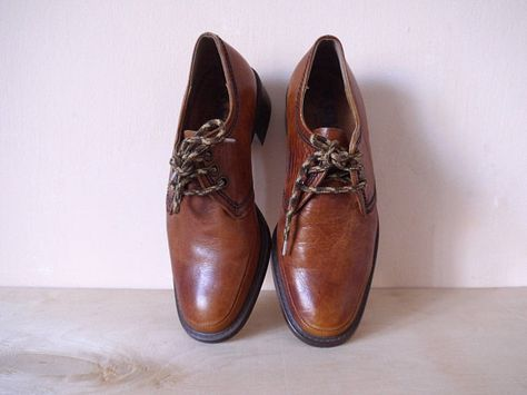 9c135cf0a2f9 70s Gallus Shies Vintage men Shoes Leather Oxfords heels Boots West Germany  Shoes eu 43 uk 8.5 us 9