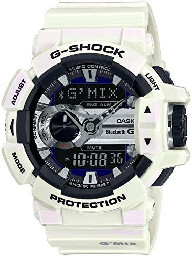 New Casio G Mix Digital Analog Dial White Resin Quartz Men S