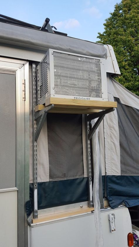 Image result for build stand for ac unit outside popup