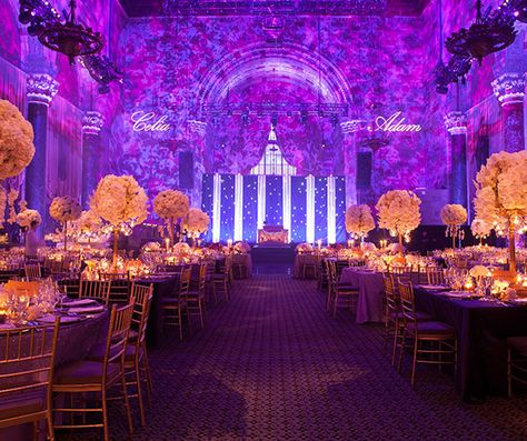 Held at cipriani in new york city this glamorous purple white held at cipriani in new york city this glamorous purple white and gold wedding by colin cowie celebrations was overflowing with style junglespirit Choice Image