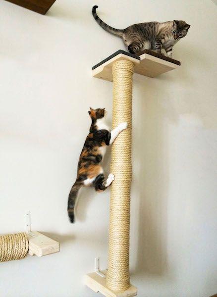 Vertical Wall Mounted Sisal Cat Pole A1 Savannahs Pet Diy Projects Cat Post Diy Cat Scratcher