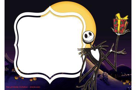 Free Printable Jack Skellington Invitation Templates Christmas Invitations Template Jack Skellington Free Invitation Templates