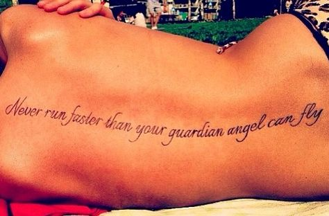 Spine tattoo. Love this quote. Tattoos ? | tattoos picture spine tattoos