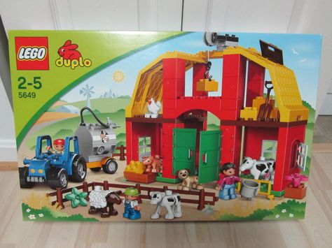 Lego Duplo Big Farm Animal Barn Lot Set Nib 5649 New Lego Baby