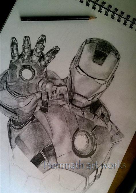 53 Ideas Drawing Ideas Sketches Fun Iron Man Drawing Drawings Ghost Rider Drawing