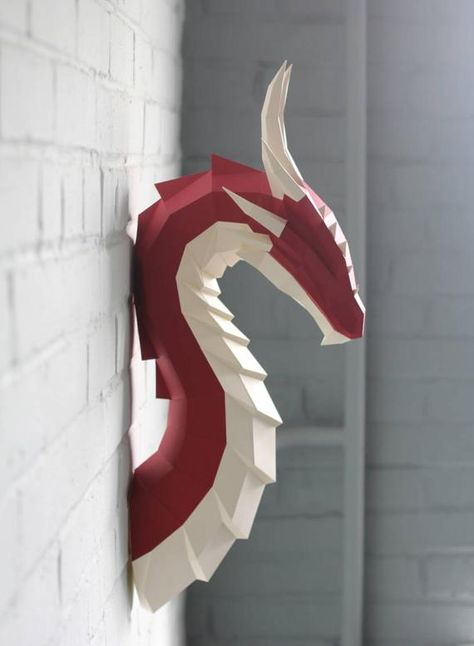 Papercraft Fire Dragon Northpoly pepakura Lowpoly Low   Etsy