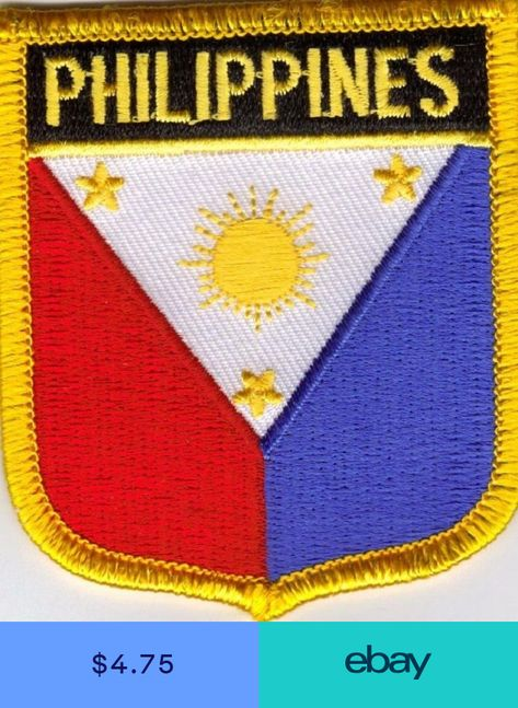 PHILIPPINES BACKPACKERS NATIONAL COUNTRY SHIELD FLAG SEW//IRON ON PATCH: