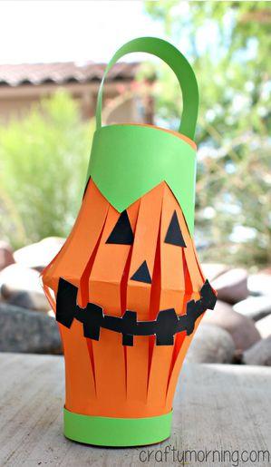 Pumpkin Toilet Paper Roll Lantern Craft Halloween For Kids To Make