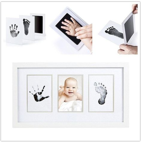 $5.55 - Cool Baby Care Non-Toxic Baby Handprint Footprint Imprint Kit Casting Parent-child Hand Inkpad Fingerprint Watermark - Buy it Now!