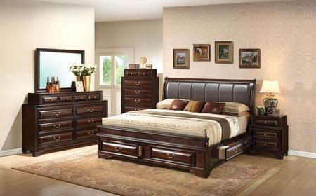 G8875c Kb3dmnc 5 Piece Bedroom Set With King Size Storage Bed