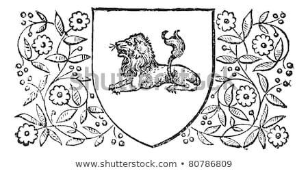 Lion Sleeping Retro Design Vintage Engraved Illustration