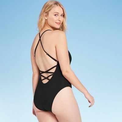 Lolli Womens Vibes Square Neck One Piece Swimsuit