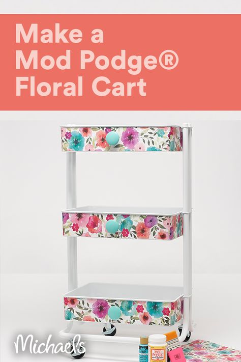 Add some style to your storage with Mod Podge®.