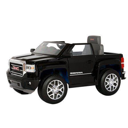 Rollplay Gmc Sierra Denali 6 Volt Battery Ride On Vehicle Black Walmart Com Gmc Trucks Kids Power Wheels Power Wheels