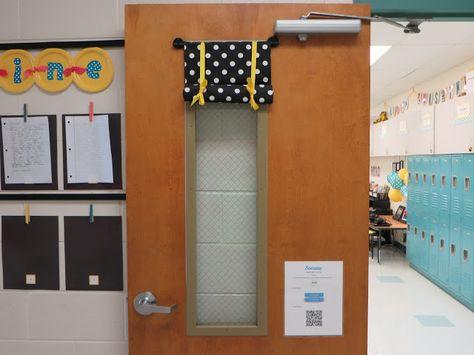 classroom door window cover diy 50