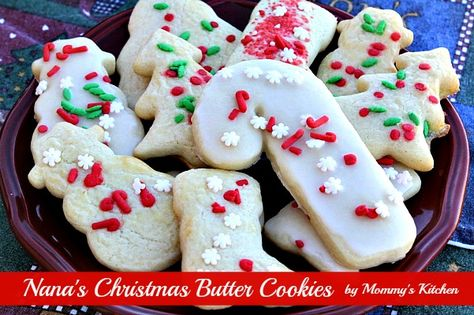 Mommy's Kitchen - Country Cooking & Family Friendly Recipes: Nana's Christmas Butter Cookies {Revisited}