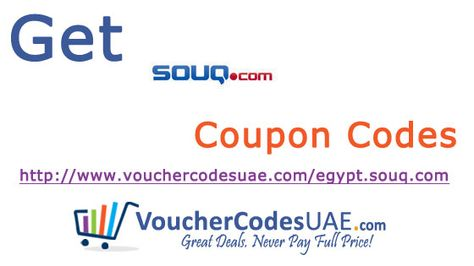 Save money with the latest free Souq Egypt coupon code,voucher - how to make a voucher