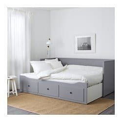Lit Banquette 2 Places Structure Hemnes Gris Organizing Day Bed Frame Hemnes Day Bed Ikea Hemnes Daybed