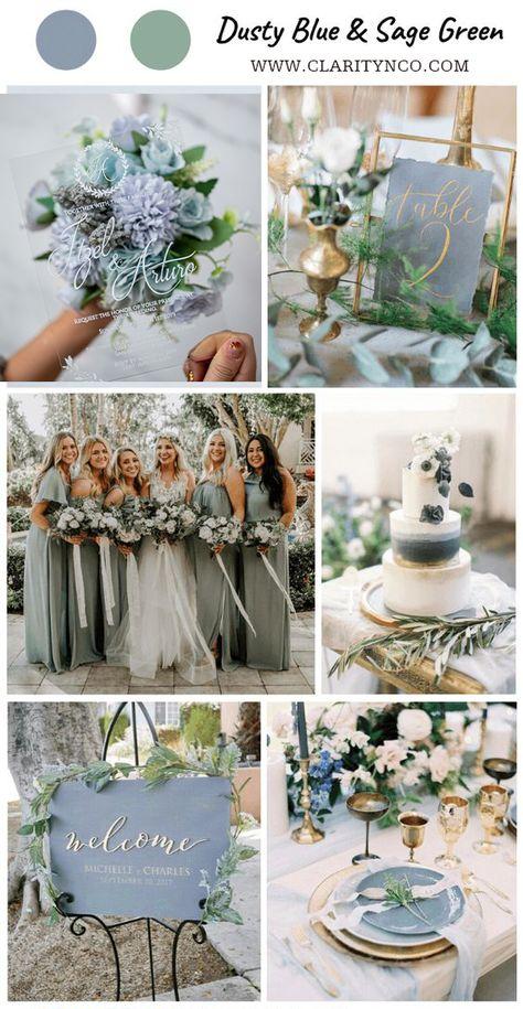 Dusty Blue & White Wedding Color Acrylic Wedding Invites CA011 Sage Green Wedding, Wedding Ideas Green, Green Spring Wedding, Green Wedding Decorations, Wedding Summer, Yellow Wedding, Burgundy Wedding, Acrylic Wedding Invitations, Elegant Invitations