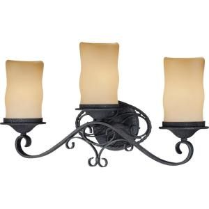 Volume Lighting Sevilla 2 Light Indoor Antique Wrought Iron Bath Vanity Wall Mount W Candle Shaped Sandstone Glass Shades V4582 36 The Home Depot Volume Lighting Glass Shades Vanity Lighting