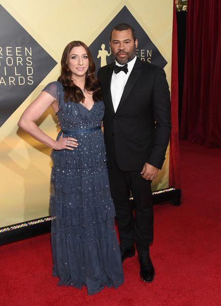 Chelsea Peretti (R) and director Jordan Peele attend the 24th Annual Screen ActorsGuild Awards.