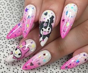 My Melody Kuromi In 2020 Anime Nails Kawaii Nails Long Acrylic Nails