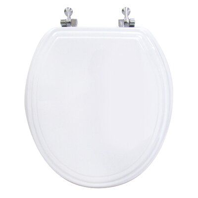 Ginsey Double Bevel Round Toilet Seat Toilet Seat Elongated