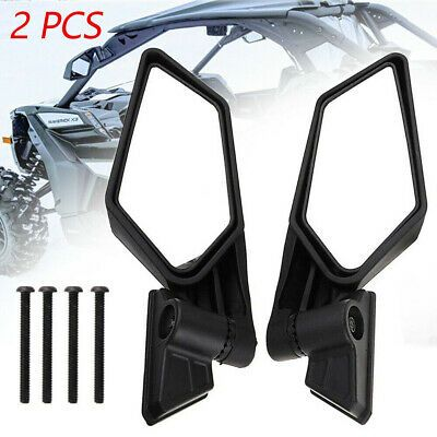 Racing Side Mirrors Left Right Fit Can Am Maverick X3 Max R Utv Off Road 17 19 Can Am Lexus Isf Side Mirror