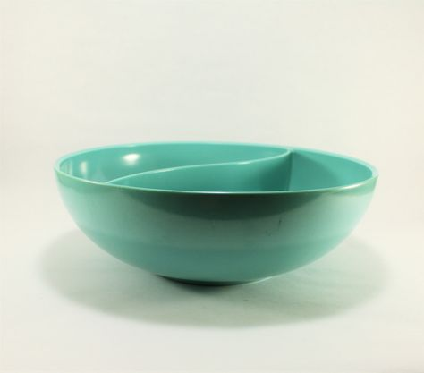 Vintage Turquoise Blue Melamine Divided Bowl, Melmac OVATION by Westinghouse Melamine Serving Bowl, Robins Egg Blue Vintage Bowl - pinned by pin4etsy.com