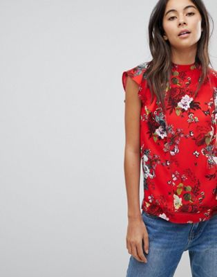 90da8e5b206 Oasis Scallop Neck Floral Shell Top in 2019   What to wear   Shell ...