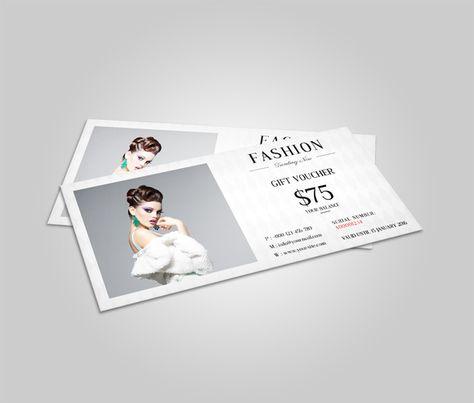Fashion Gift Voucher Template by SmmrDesign on Creative Market ...