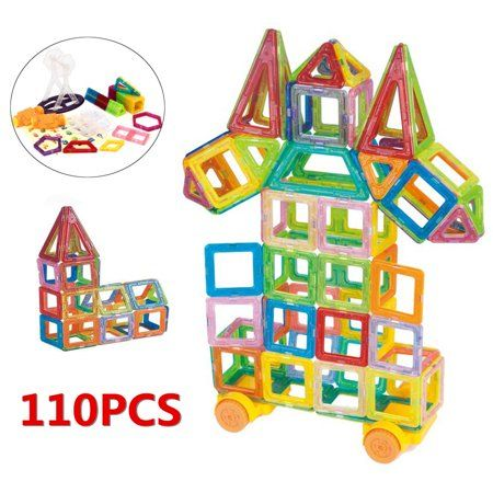 110 PCS 3D MAGNETIC Building Tiles Sets Block Kids Construction Educational Toy