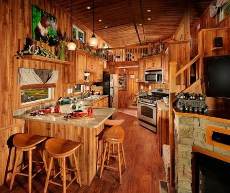 mytinyhousedirectory: Beautiful Park Models with rich interiors