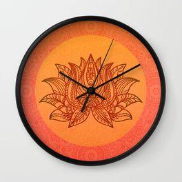 Lotus Flower Of Life Meditation Art Wall Clock Normal Price