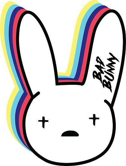 Inspired Of Getting A T Shirt To My Sister For A Gift She Is A Big Fan Of Bad Bunny So I Decided To Design A Cool Desig Bunny Painting Bunny Logo
