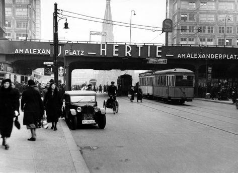 Berlin Mitte Koenigstrasse Blickrichtung Alexanderplatz Ende Der 1930er Photographie Berlin
