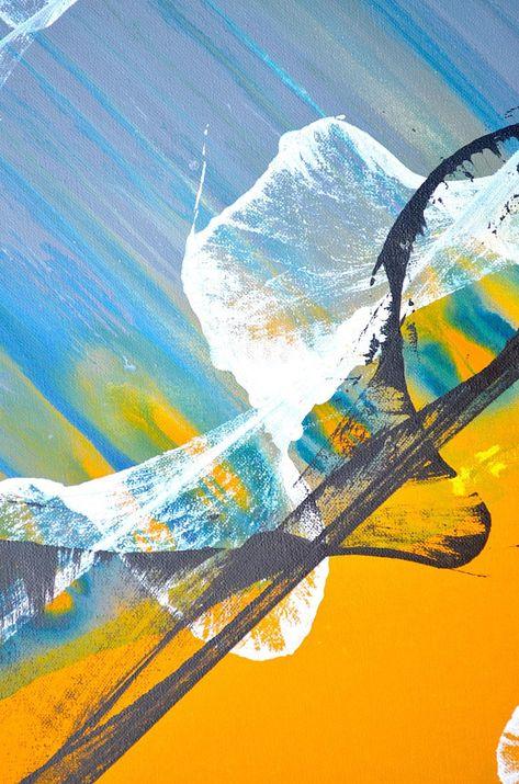 Toile Tendue Art Peinture Abstraite œuvre Moderne Mural